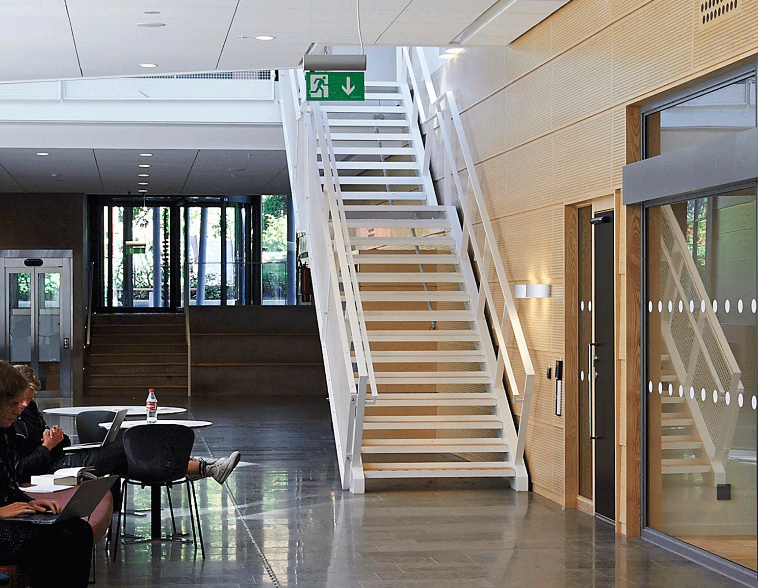 surface treatment powder coated staircase