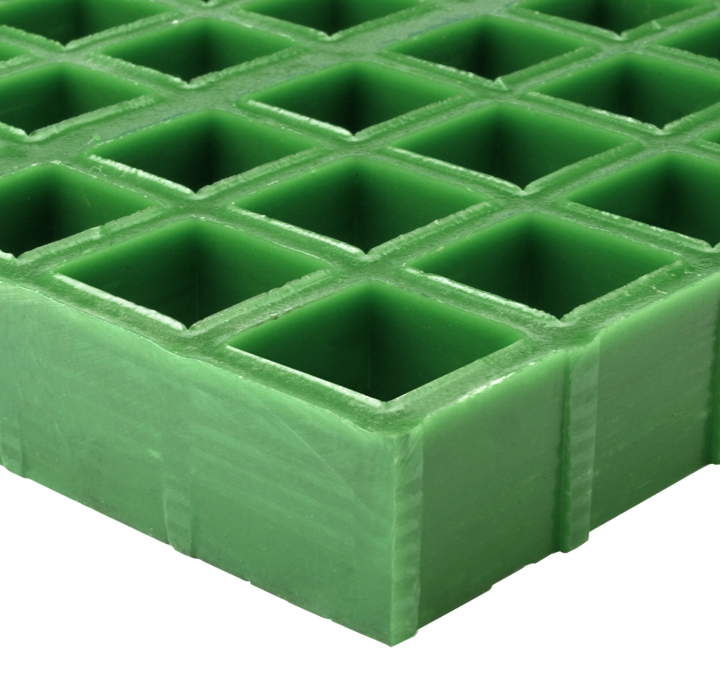 Grön GRP plast durk