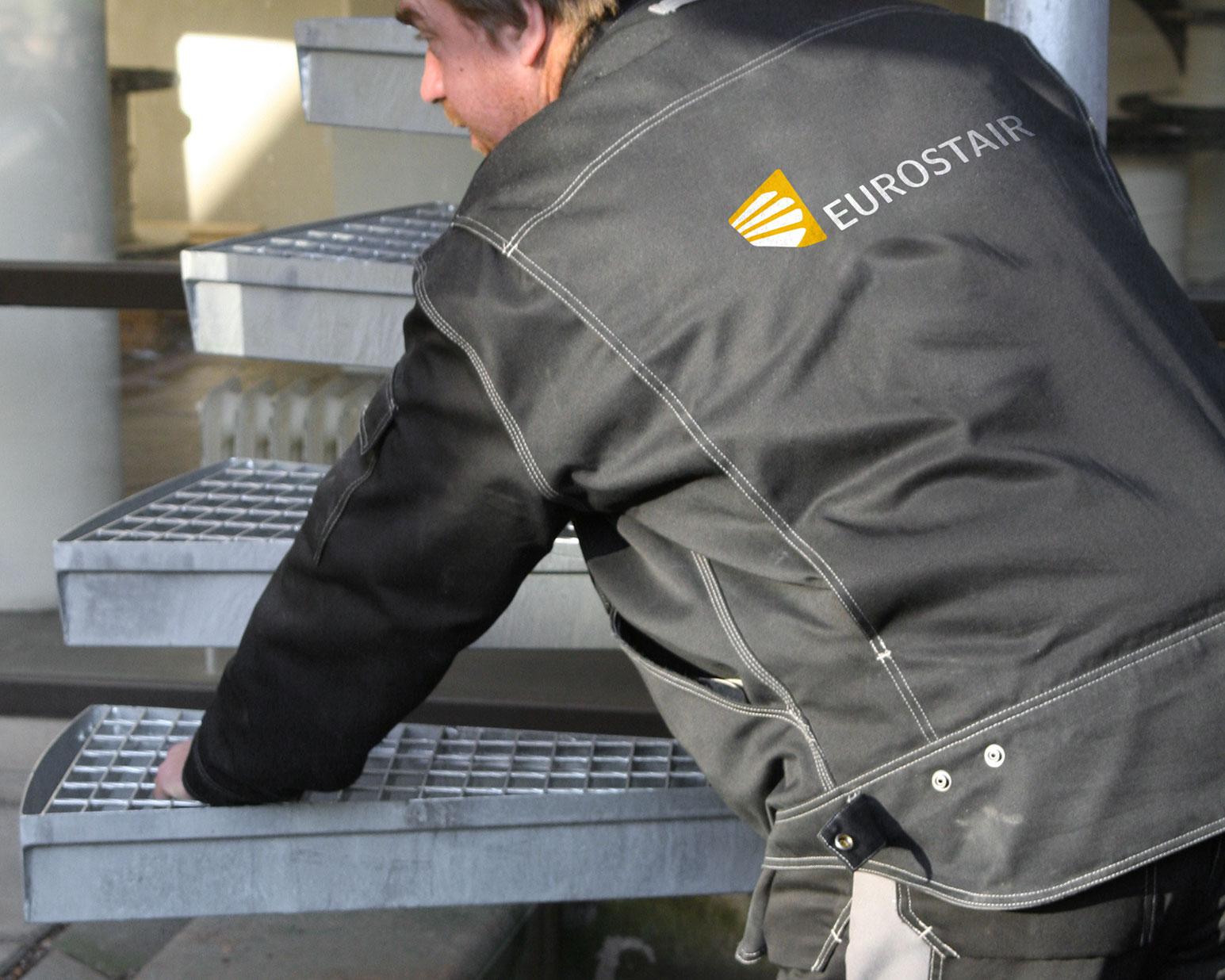 Montering av Eurostair spiraltrappa