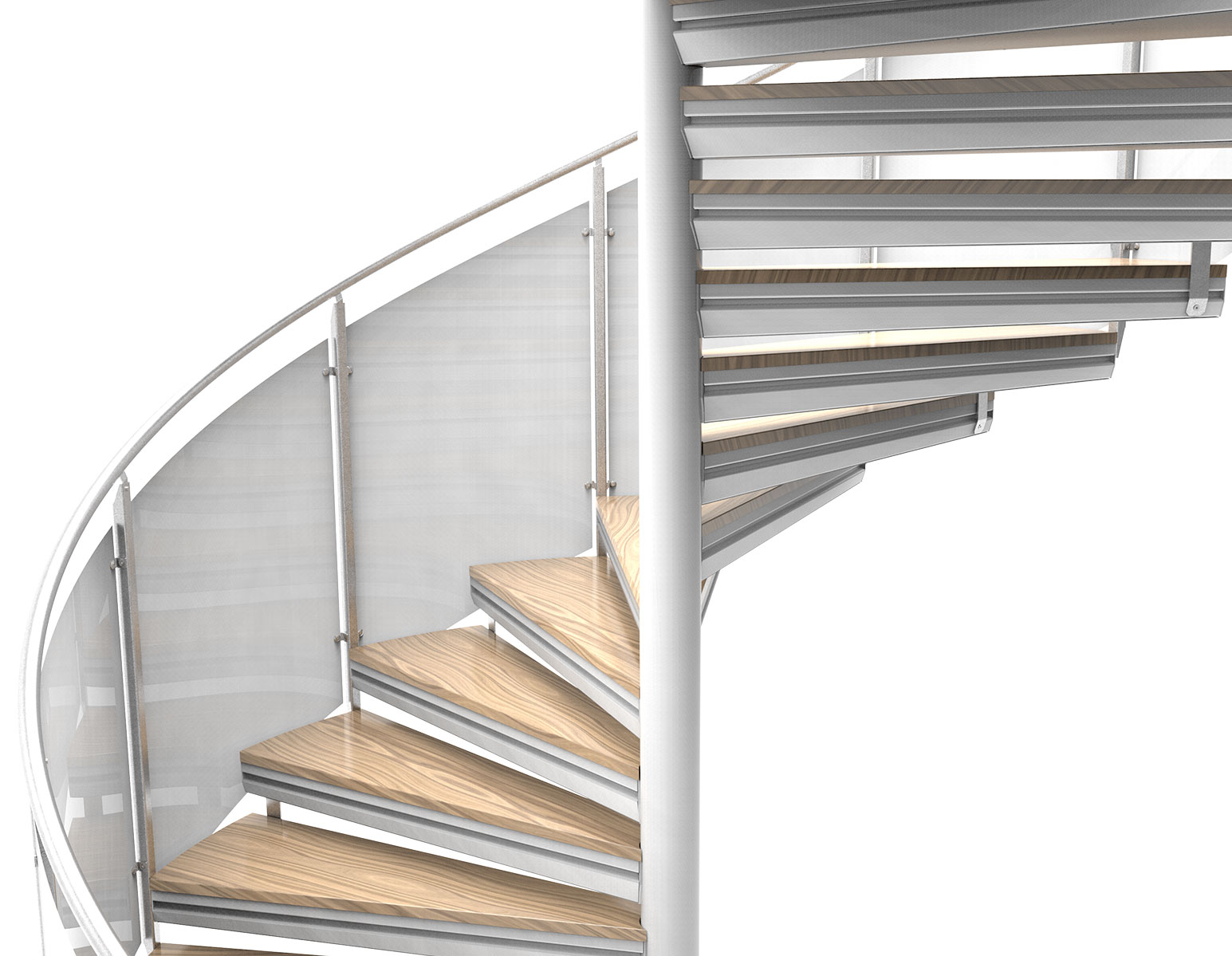 Eurostair spiral staircase premium option railings