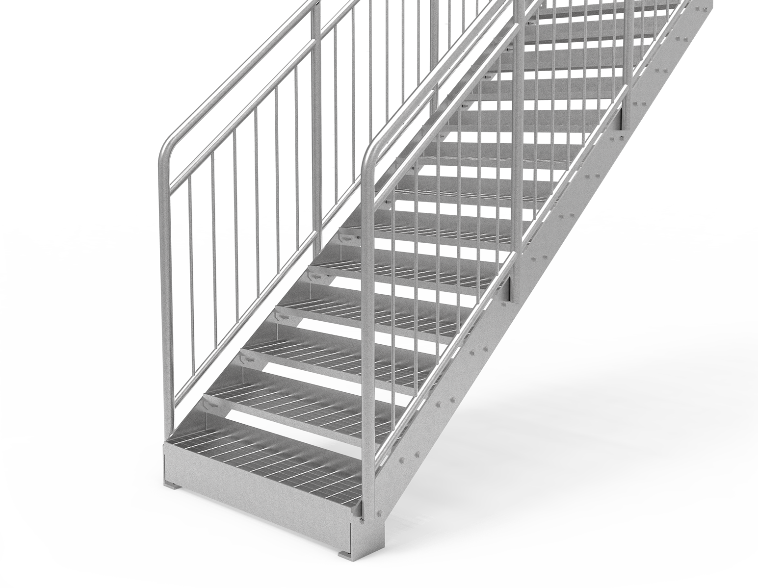 straight staircase childsafe railing