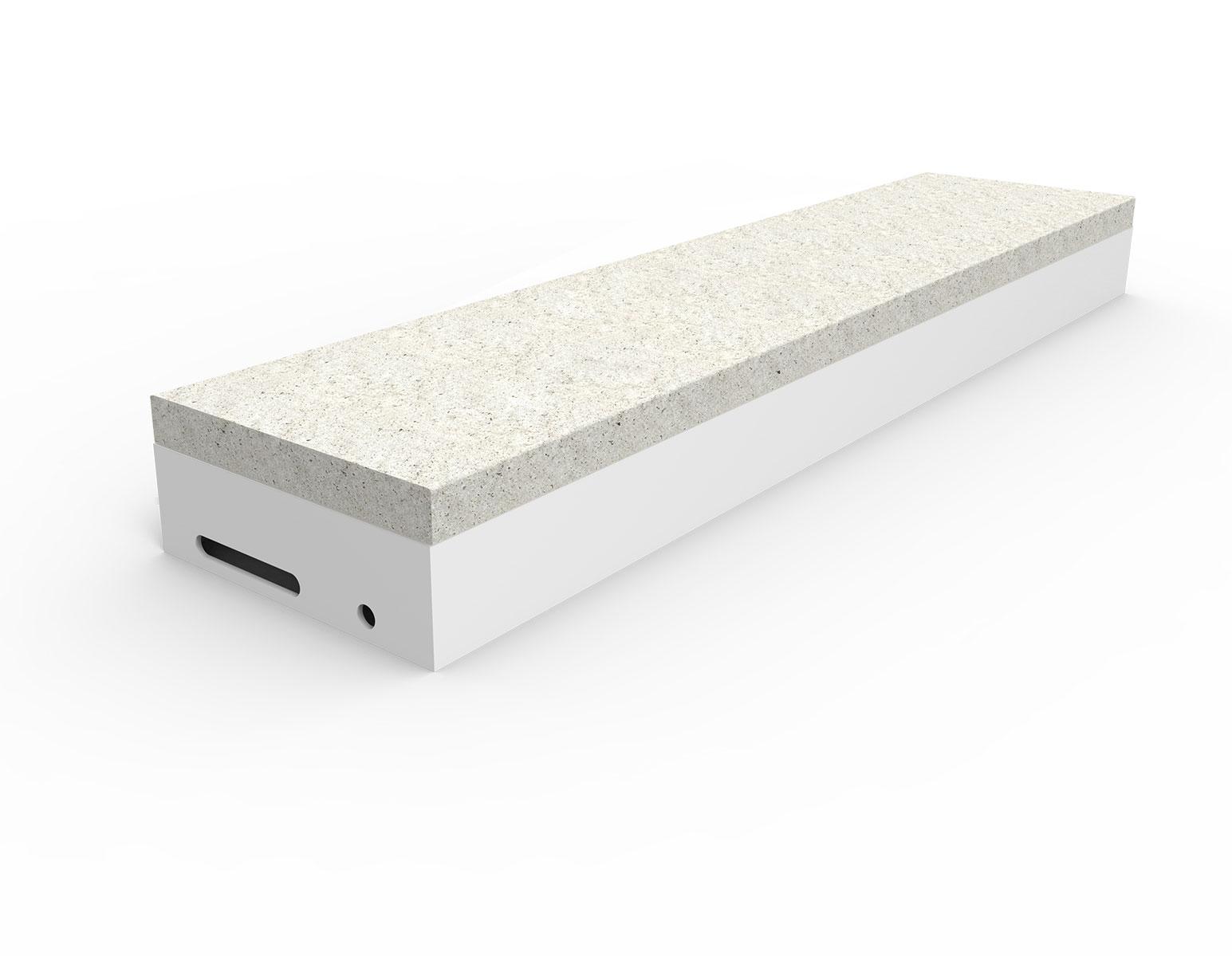 Trinn for istøp av betong