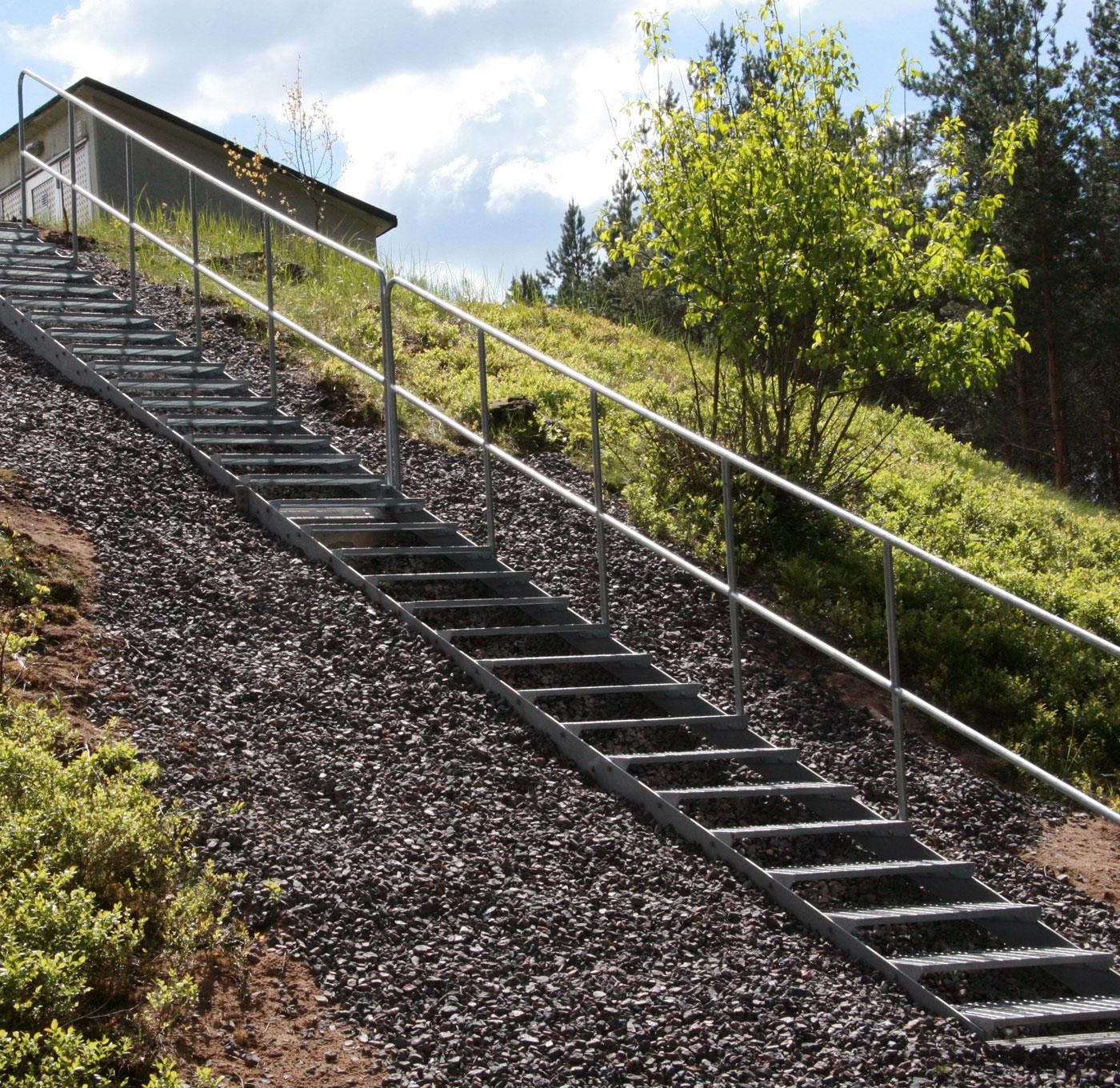 Rak trappa standard utomhus
