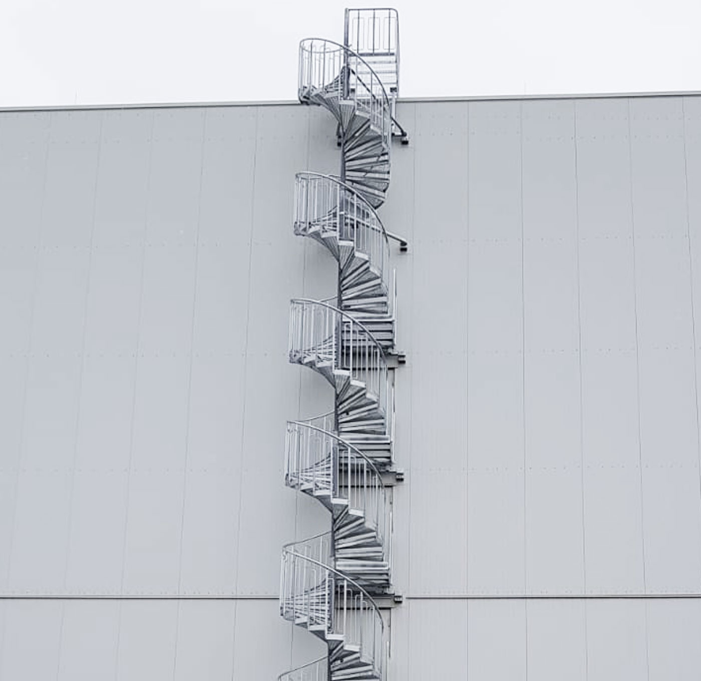 Spiral staircase standard outdoors
