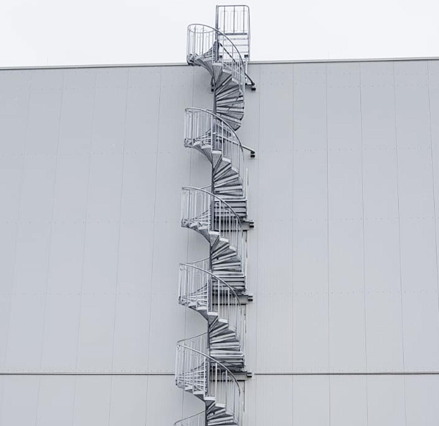 Utomhus standard spiraltrappa