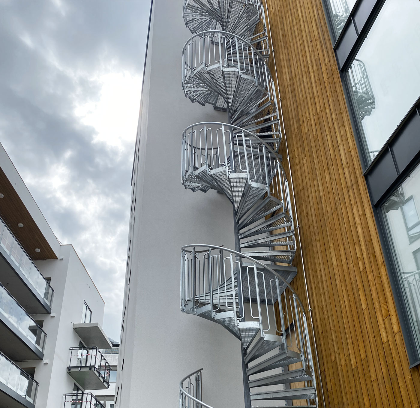 Childsafe spiral staircase outdoors