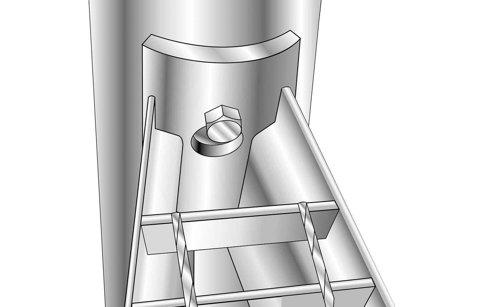 Spindeltreppe standard schlüsselloch