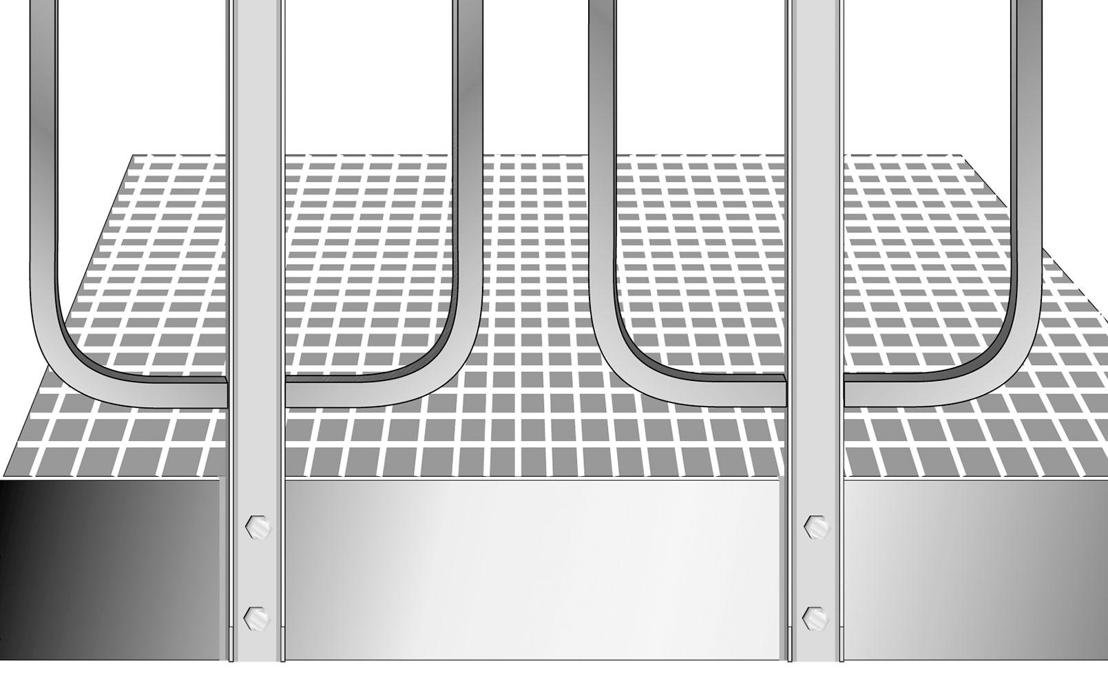 Spindeltreppe standard plattforme