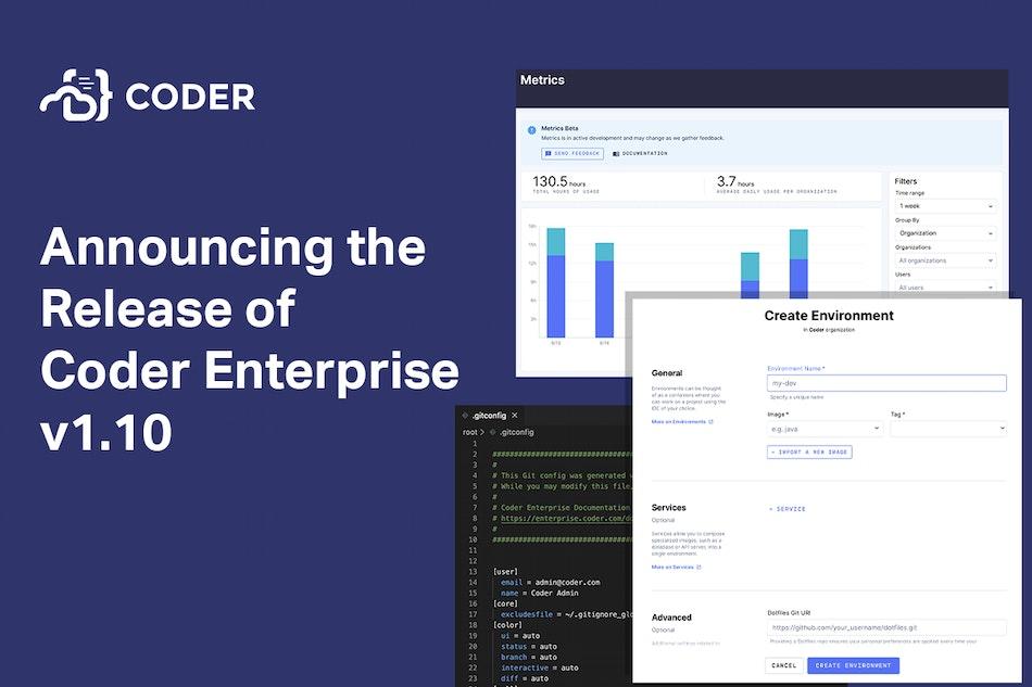 Announcing the release of Coder Enterprise v1.10