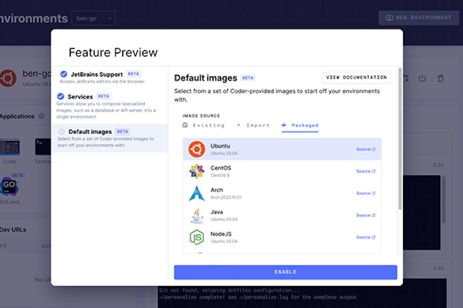 Default images screenshot