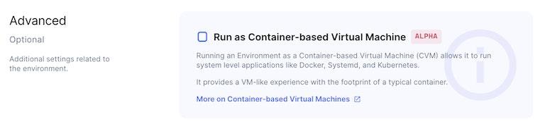 CVM option in Coder