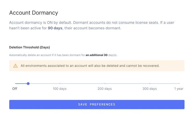 Dormant account threshold in Coder
