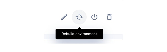 Rebuild icon in Coder