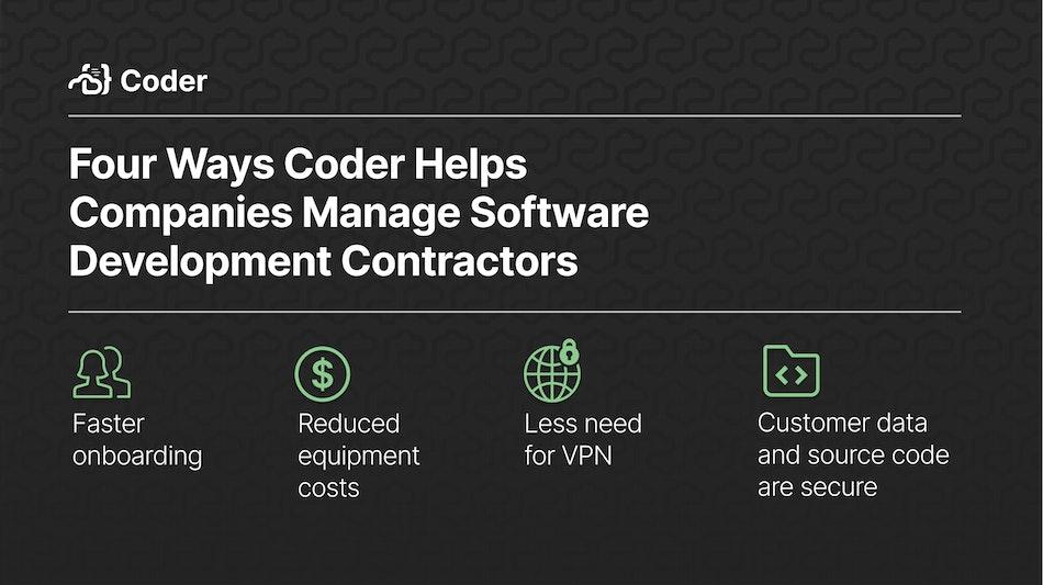 Four ways Coder Helps Companies Manage Software Development Contractors