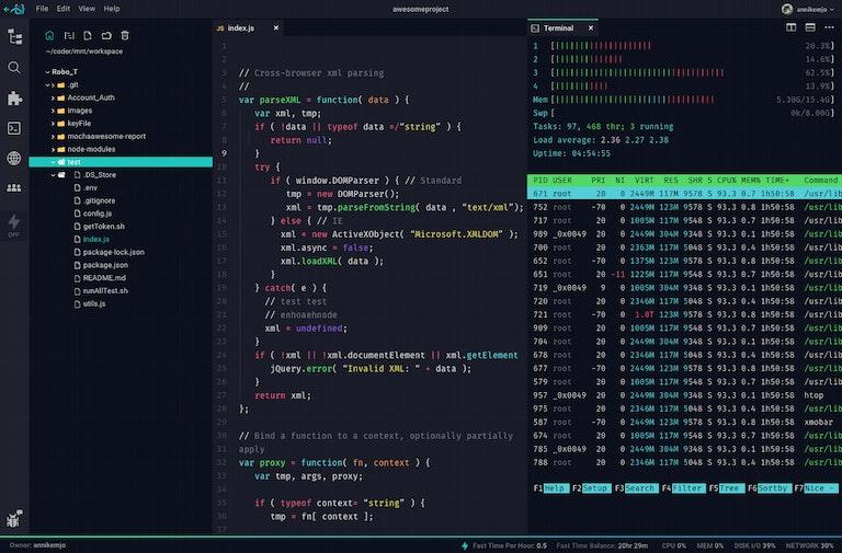Screenshot of original Coder IDE