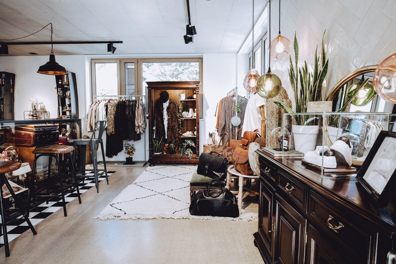 Eingang der Konzept-Boutique