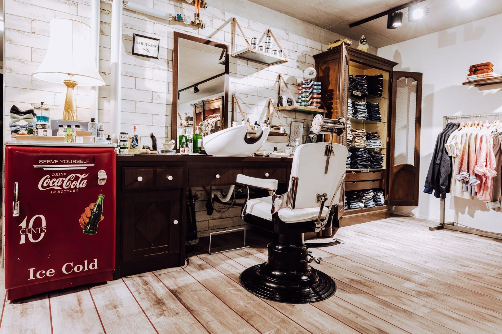 Männer Haarschnitt Barberstuhl