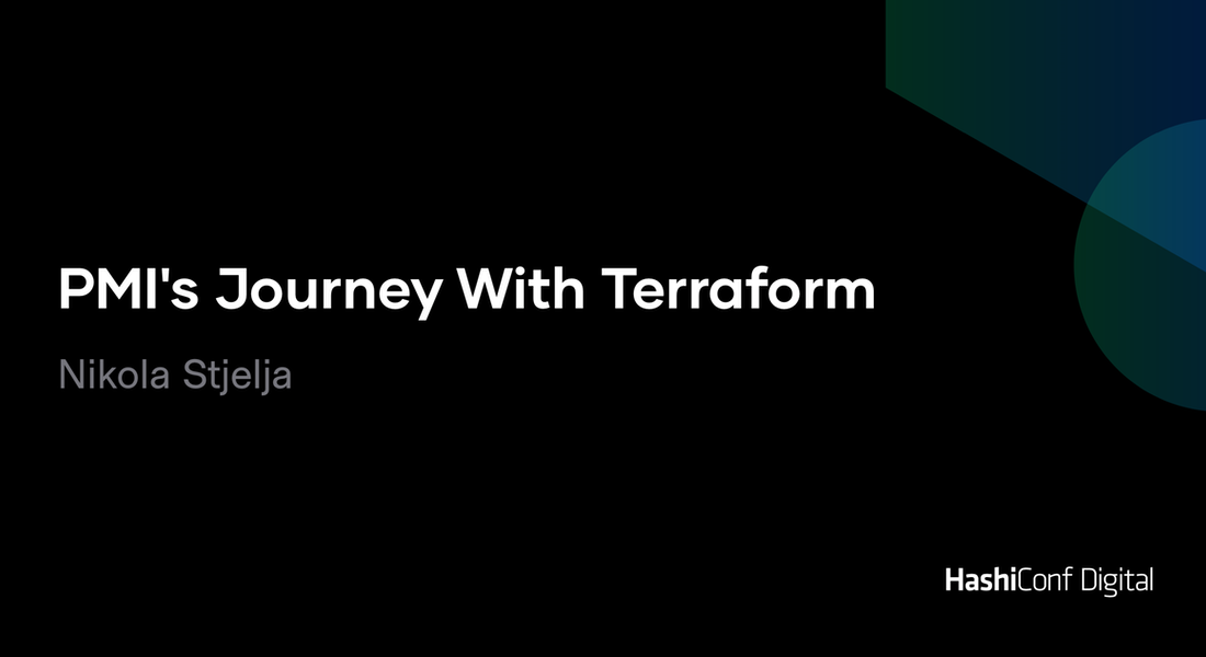 PMI's Journey With Terraform