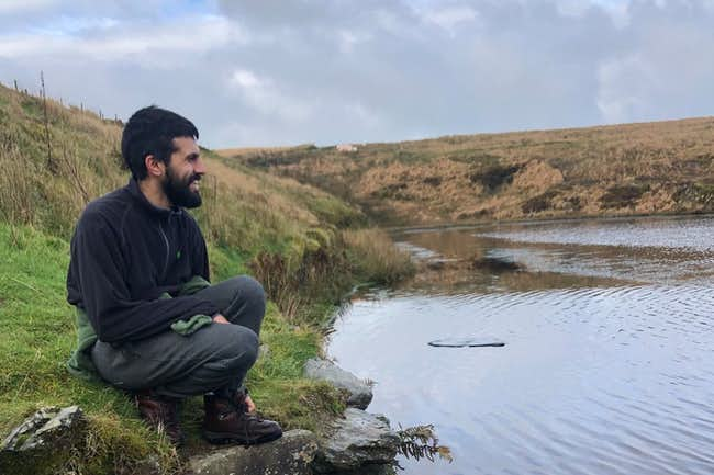 Vishal at the Pinkery Lake, Exmoor