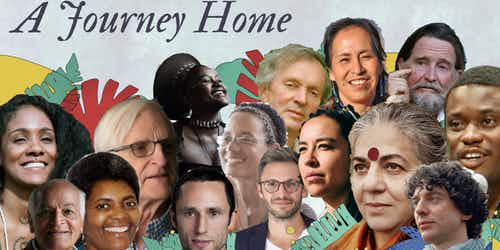 a journey home, event, charles eisenstein, rupert sheldrake, lyla june, pat mccabe, vandana shiva