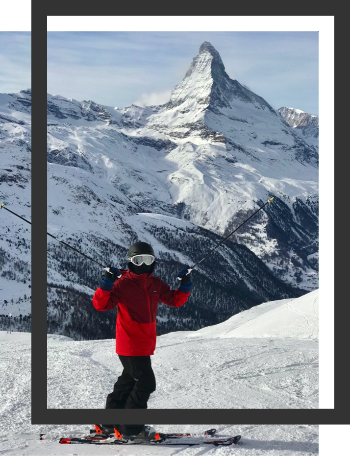 Me, skiing in front of the Matterhorn!