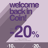 Welcome Back in Coin!