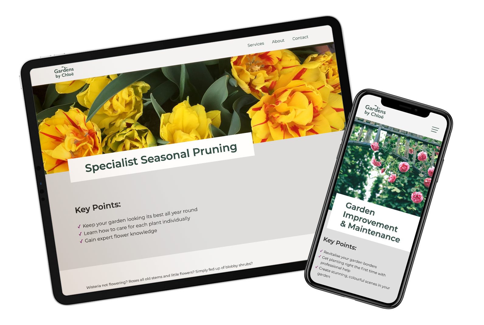 Responsive web design for a growing gardening company