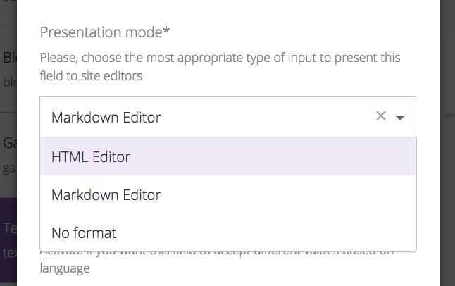 Markdown editor for static websites - DatoCMS