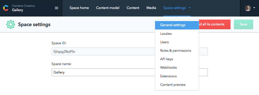 Contentful space ID