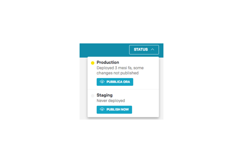 Status button multi deployment option