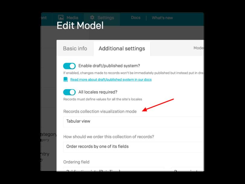 allow tabular view via settings