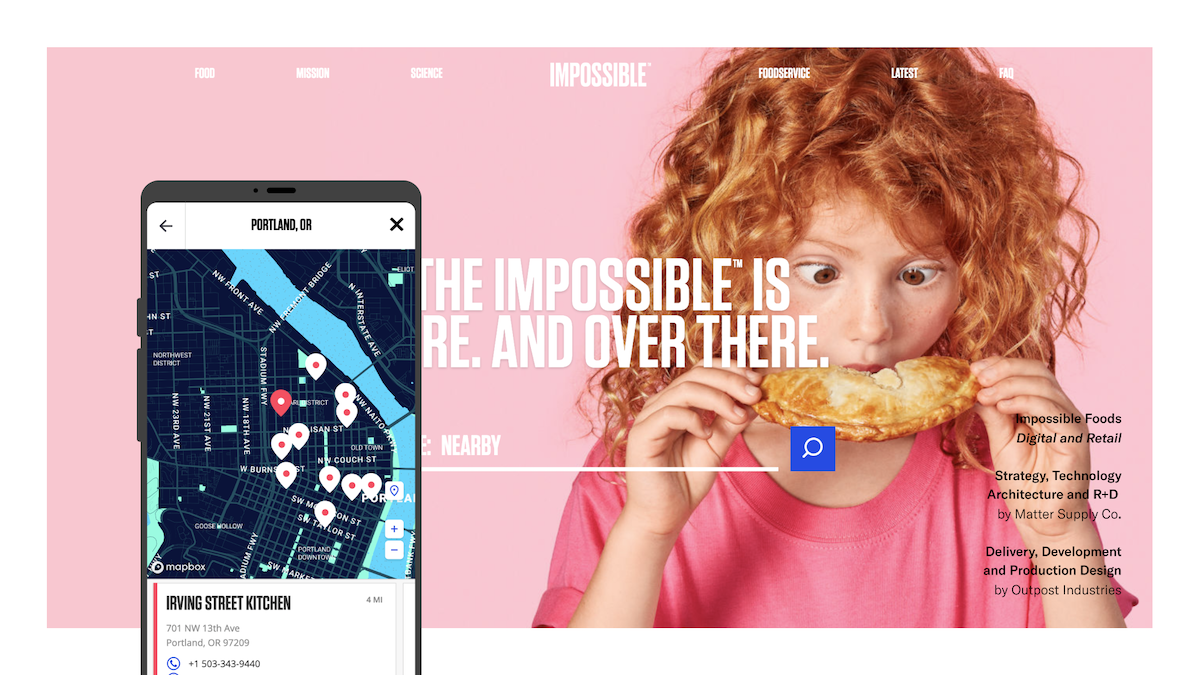Impossibile Foods Web Design by Matter Supply Co
