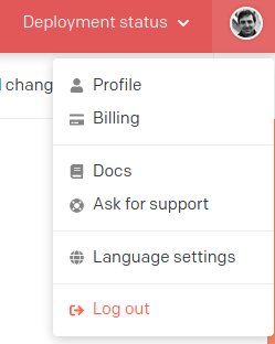 Change language of CMS UI