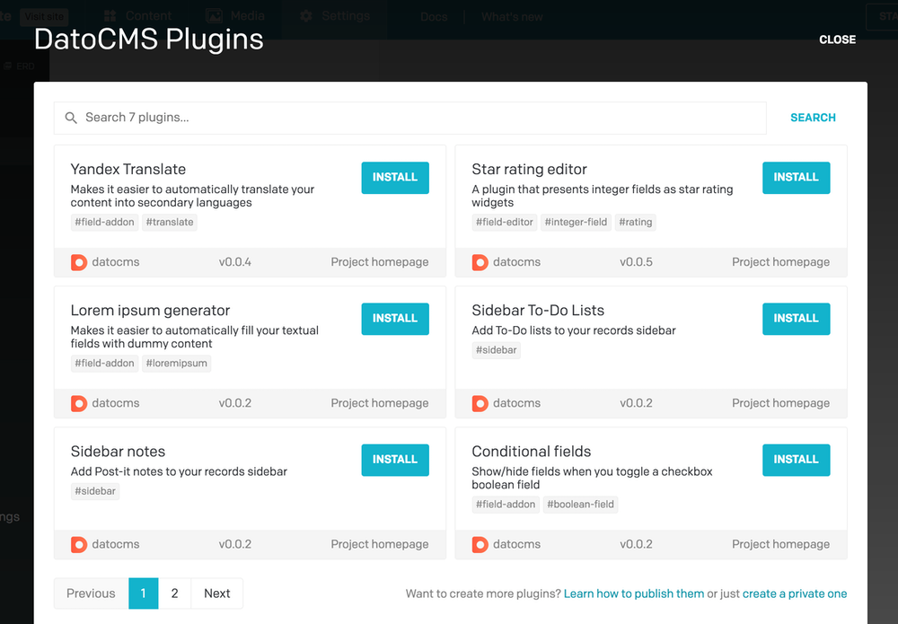 Plugins SDK - Publishing plugins - DatoCMS Docs