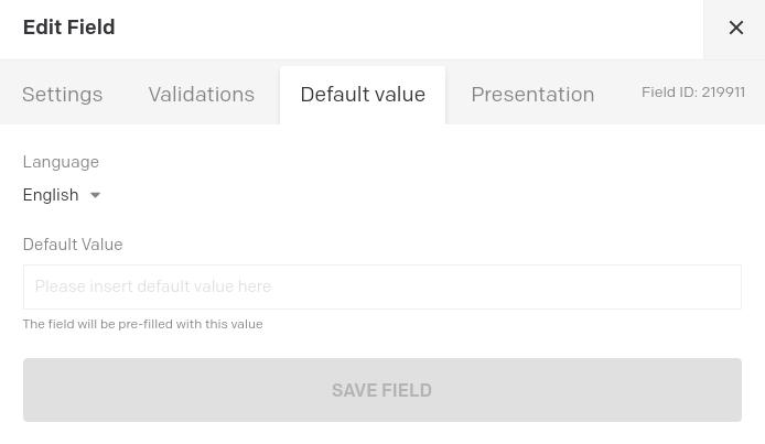 Localisable default values