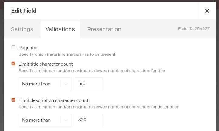 Customize SEO title and description length