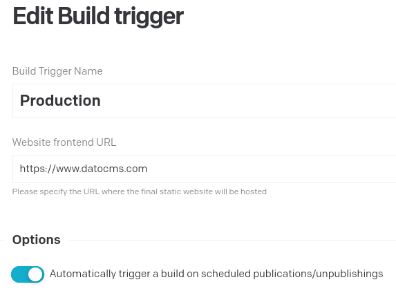 Start a build when a scheduled publication is done