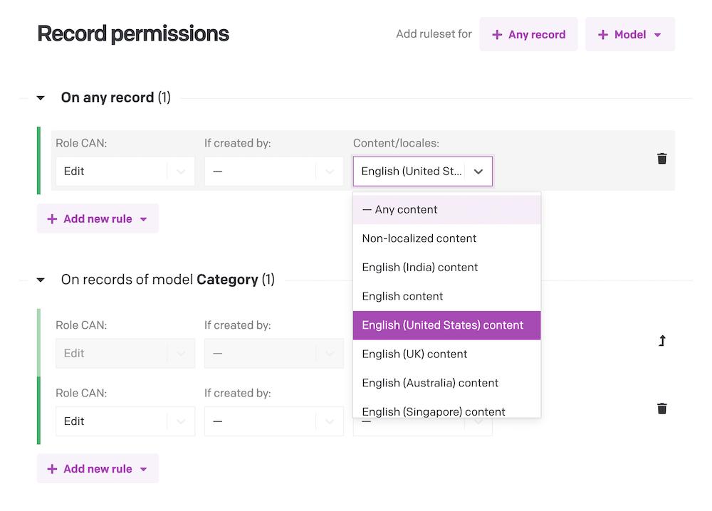 Translator role permission system