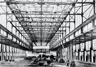 Packard Motor Co. Forge Shop, Albert Kahn, Detroit, Michingan, US, 1910