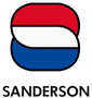 Red White and Blue Sanderson Logo with Sanderson Text