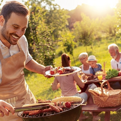 Image of a family enjoying a BBQ