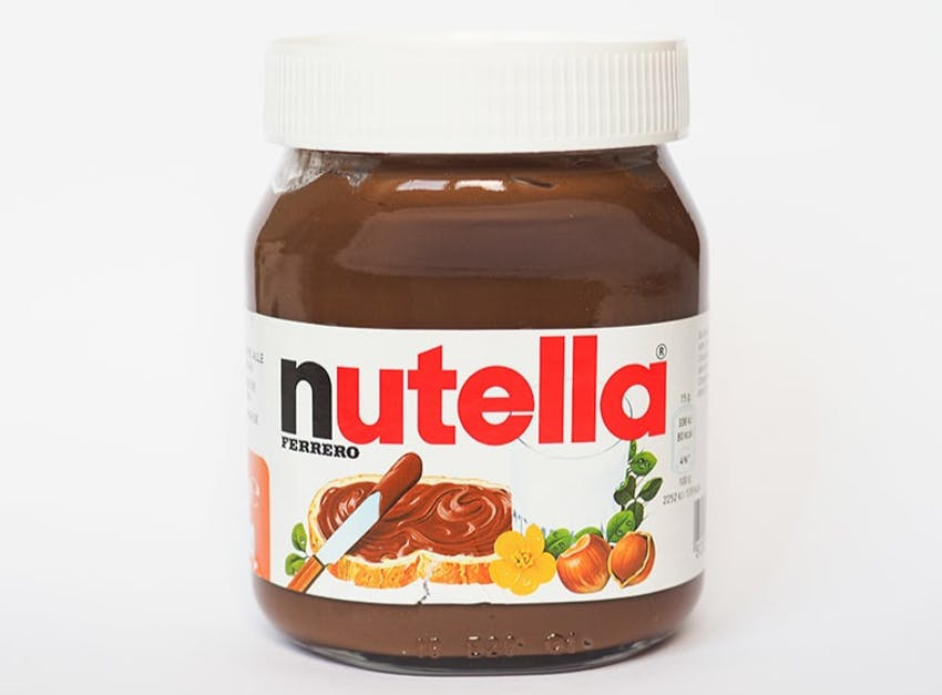 a jar of nutella