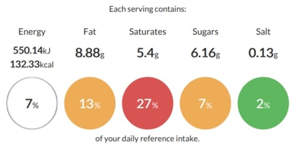 salted caramel hot chocolate product specification on erudus with calorie and nutritional information