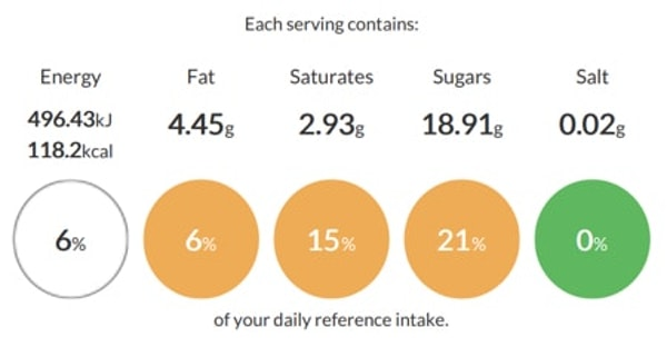 shaken udder vanillaicious fudge product specification in erudus with calorie and nutritional information
