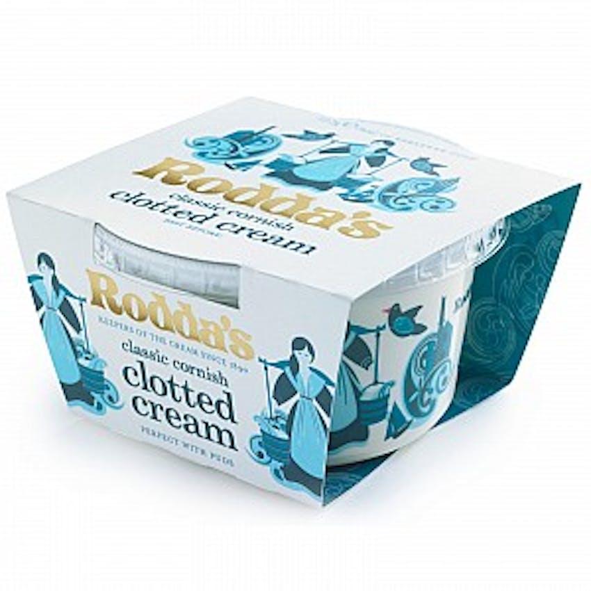 product packshot of rodda's classic cornish clotted cream