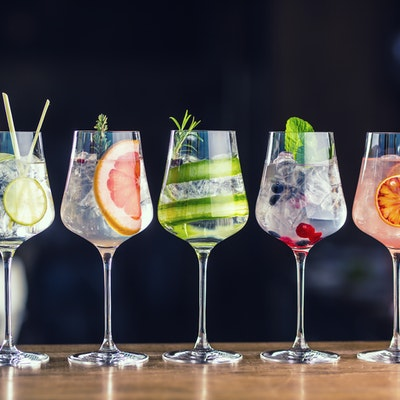 A selection of gin cocktails