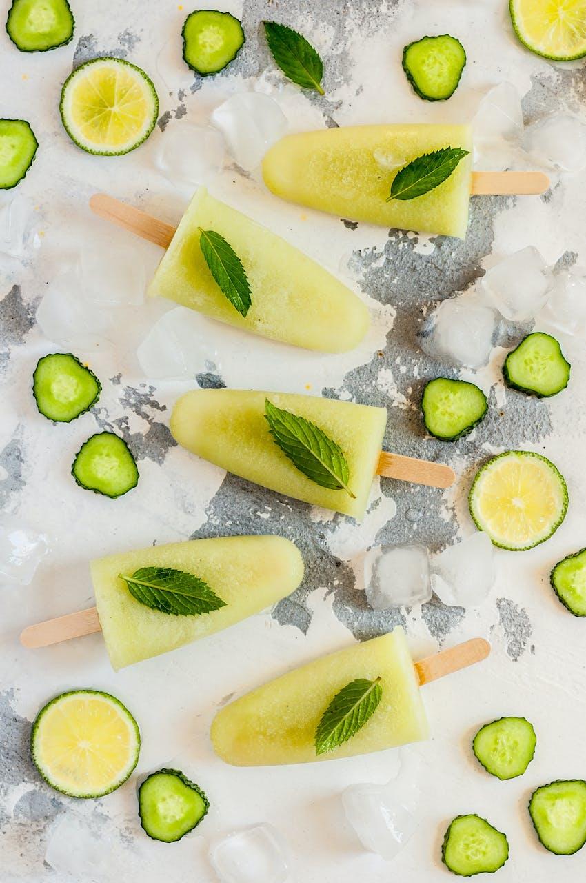 Gin ice lollies