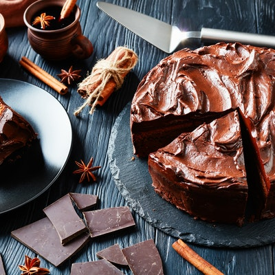 allergy friendly free from vegan chocolate cake with chocolate ganache