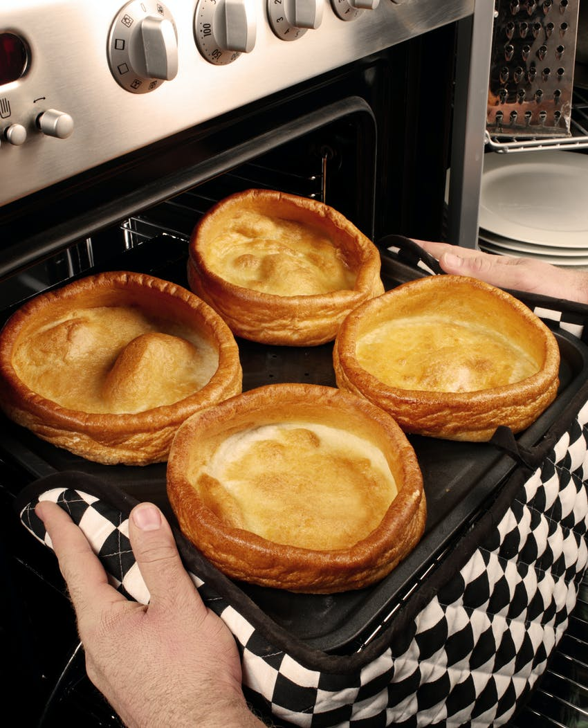 Yorkshire puddings fresh out of the oven