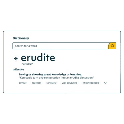 erudite meaning having or showing great knowledge or learning